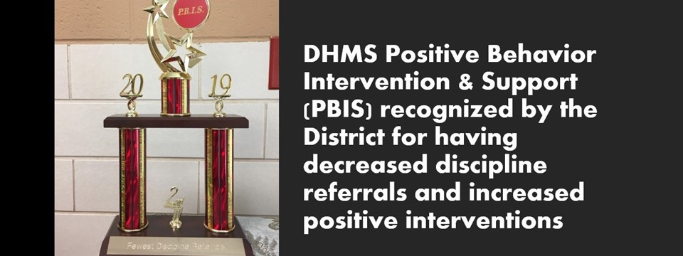 PBIS trophy for decreased referrals